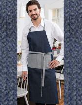 Jeans-Latzschürze 2-farbig 75 x 100 cm