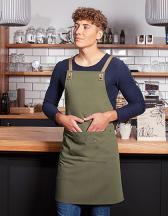 Bib Apron Urban-Nature with Cross Straps and big Pocket