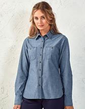 Women`s Organic Chambray Fairtrade Long Sleeve Shirt