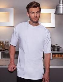 Short-Sleeve Throw-Over Chef Shirt Basic