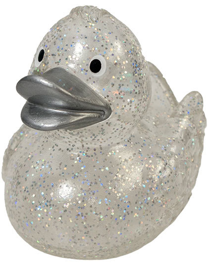 Squeaky Duck Glitter Silver